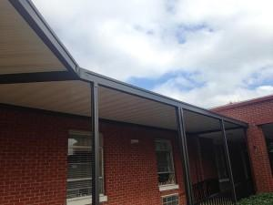 Canopy installed at the Choctaw Regional Nursing Home in Ackerman, MS